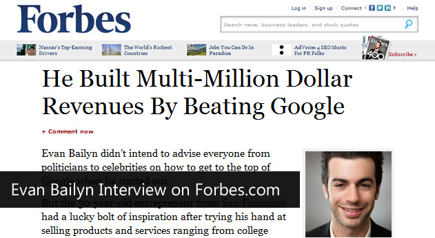 Evan Bailyn Interview on Forbes.com