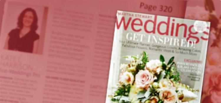 The Green Bride Guide CEO, Kate Harrison, in Martha Stewart Weddings Magazine