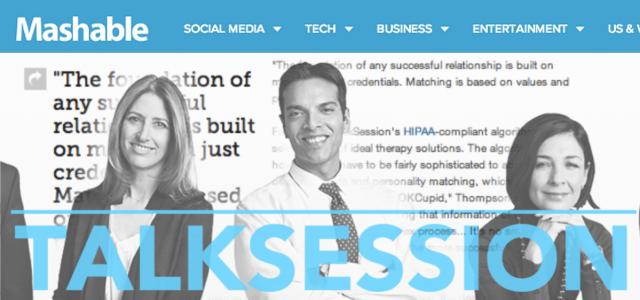 TalkSession featured on Mashable