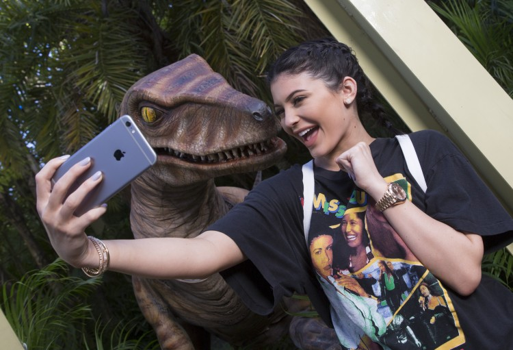 Selfies with dinosaurs!