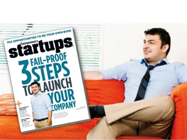 GSM Nation CEO, Ahmed Khattak, on the Cover of Entrepreneur's Startups Magazine