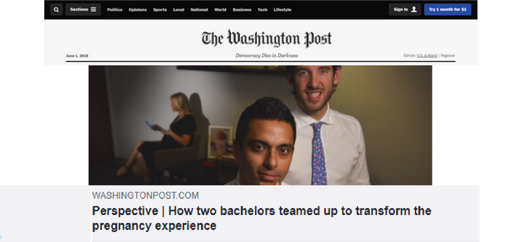 Babyscripts Featured in the Washington Post